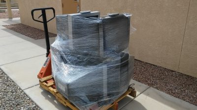The Last shipment of TV's and DVD players donated to the Hotel San Carlos Apartments going to those in need.